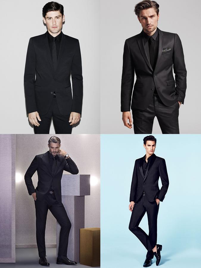پیراهن و کت شلوار سیاه