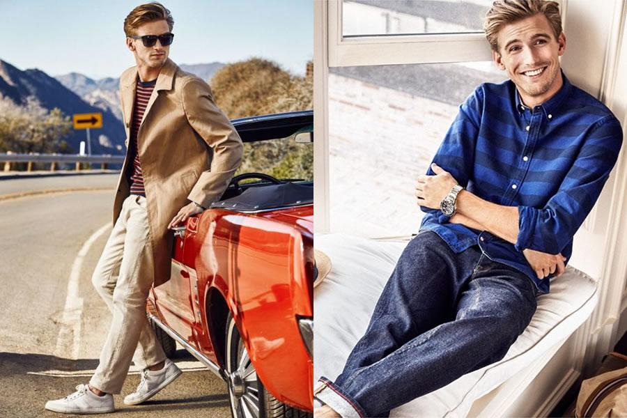 پیراهن مردانه تامی هیلفیگر ، شلوارکتانی تامی هیلفیگر