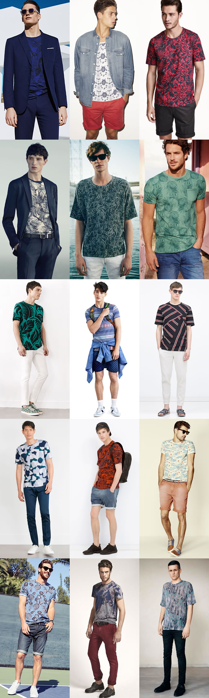 کاتالوگ تیشرت های طرحدار و فلورال مردانه
