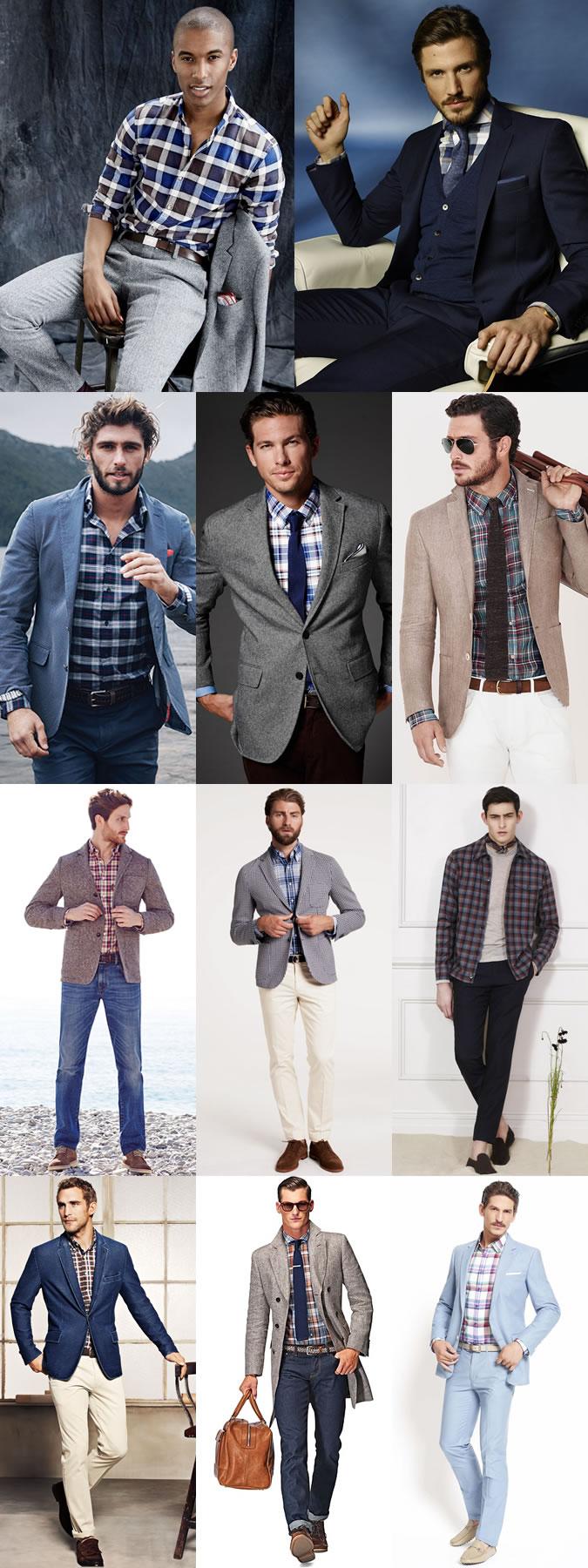 پیراهن مردانه با کت مردانه