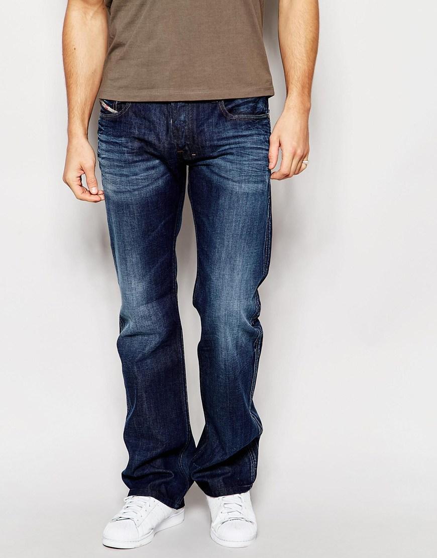 شلوار جین دمپا گشاد تیره مردانه
