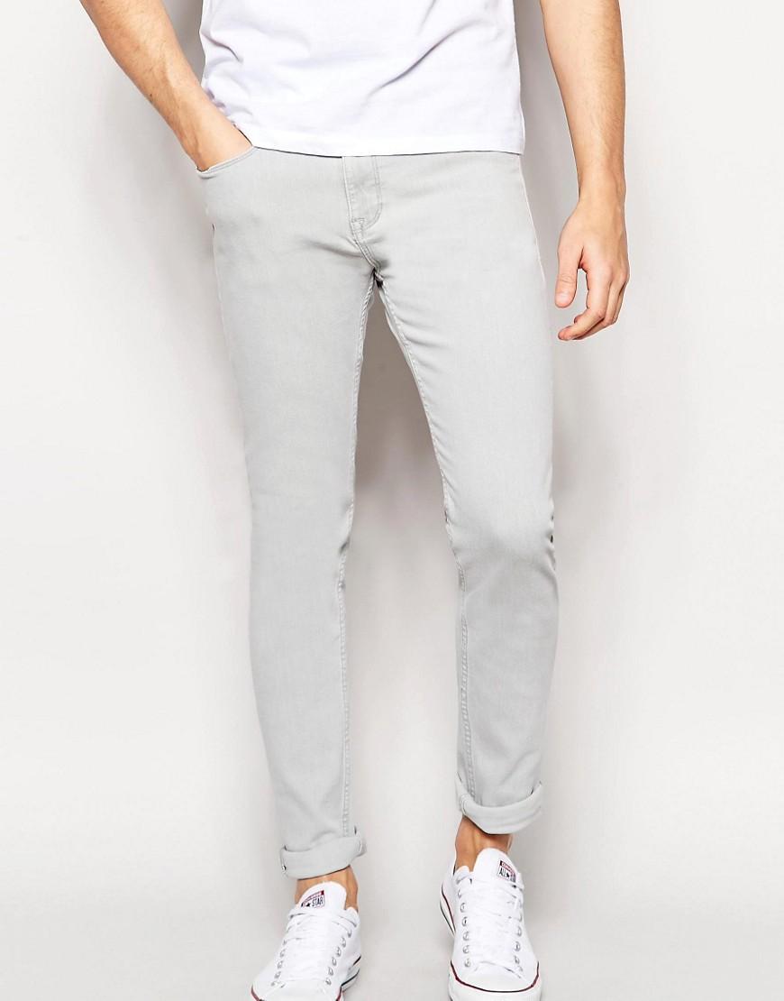 شلوار جین skinny سفید مردانه