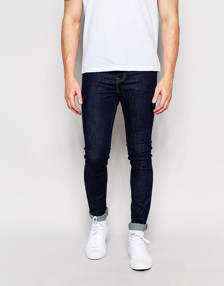 شلوار جین skinny سیاه مردانه