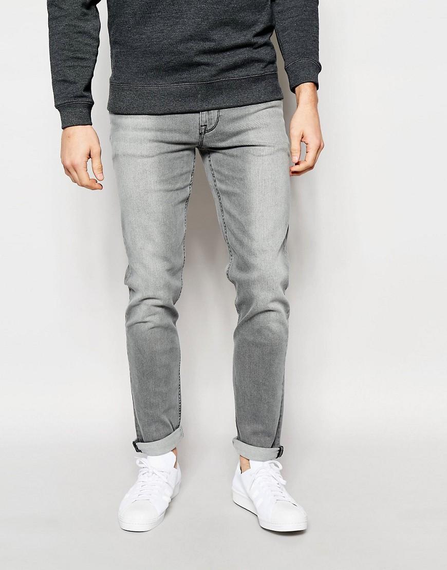 شلوار جین skinny خاکستری مردانه