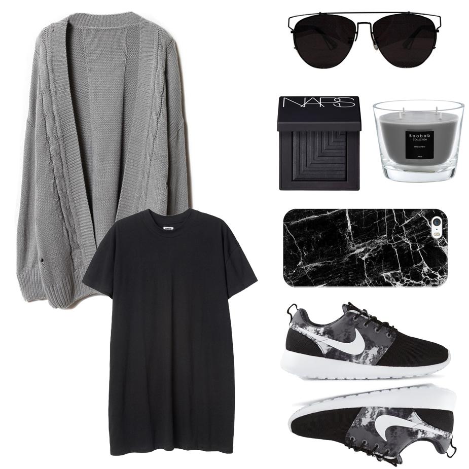 ژاکت خاکستری بلند زنانه