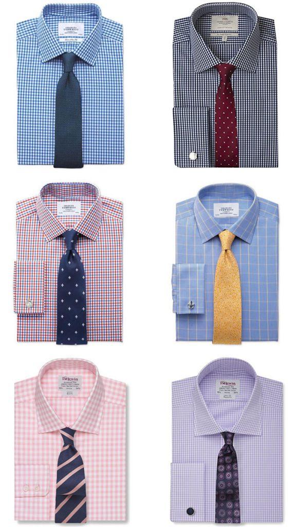 ست کردن پیراهن چهار خانه با کراوات