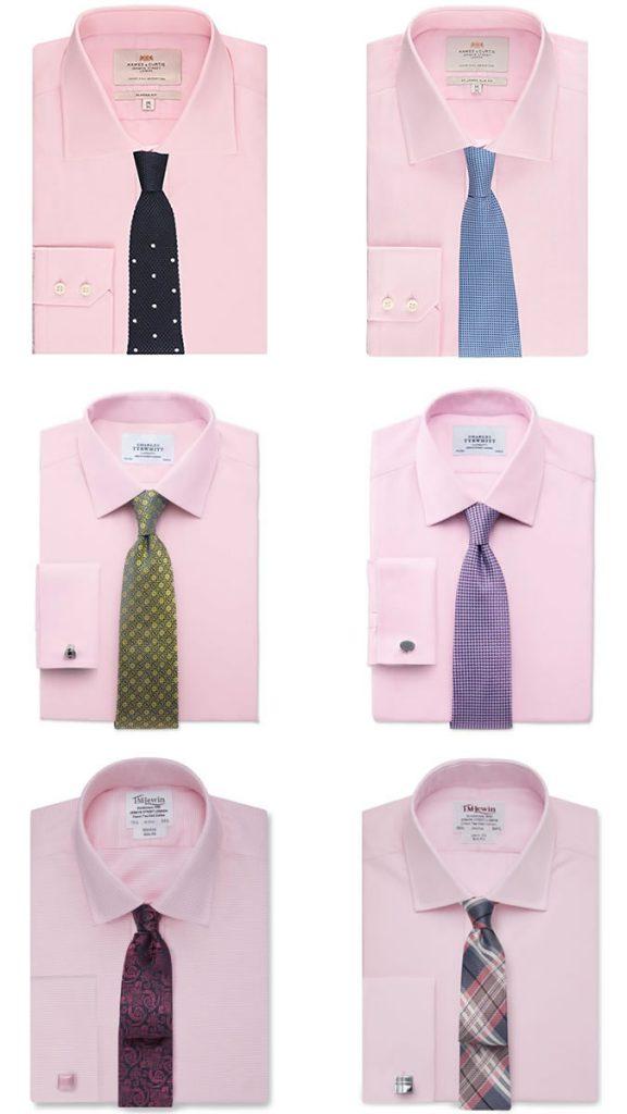 ست کردن پیراهن صورتی با کراوات