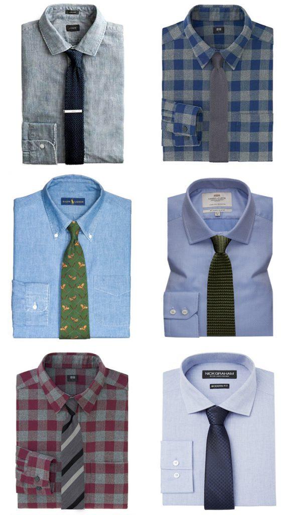 ست کردن پیراهن بافت با کراوات