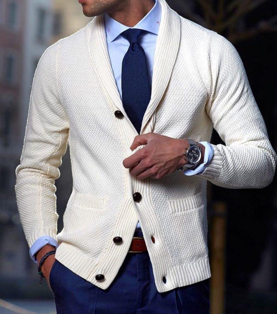 کراوات بافت با ژاکت بافت