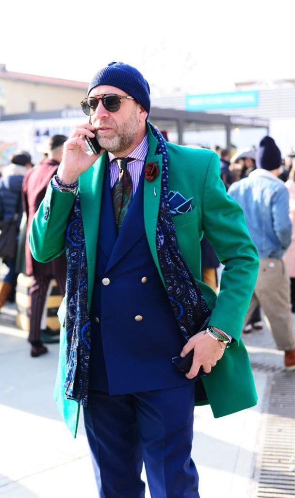 آبی کلاسیک + سبز