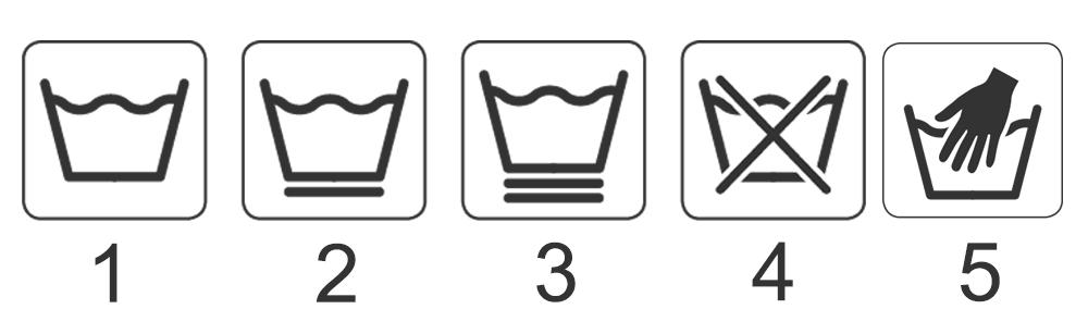 علائم شستشوی لباس » علائم شستشوی الیاف مصنوعی و کتان
